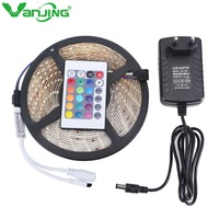 Waterproof RGB LED Strip 5M 300leds 3528 SMD + 24Key IR Remote Controller + 12V 2A Power Adapter Outdoor Changeable LED Light