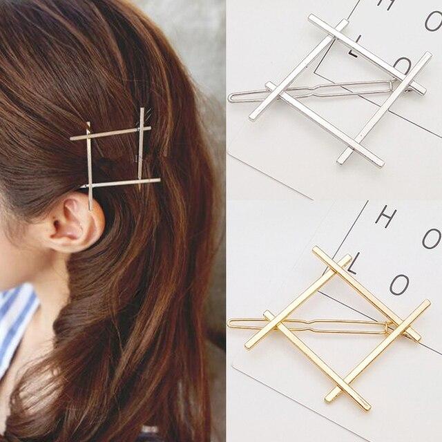 1 pieza nueva moda mujer niñas horquillas niñas geometría lindo Clip para el cabello delicado Pasador para el cabello accesorios de joyería