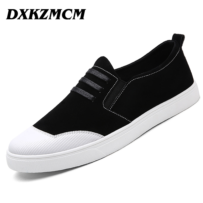 DXKZMCM 2017 Mens Loafers Flats Moccasins Men Shoes Slip-on Breathable Men Casual shoes