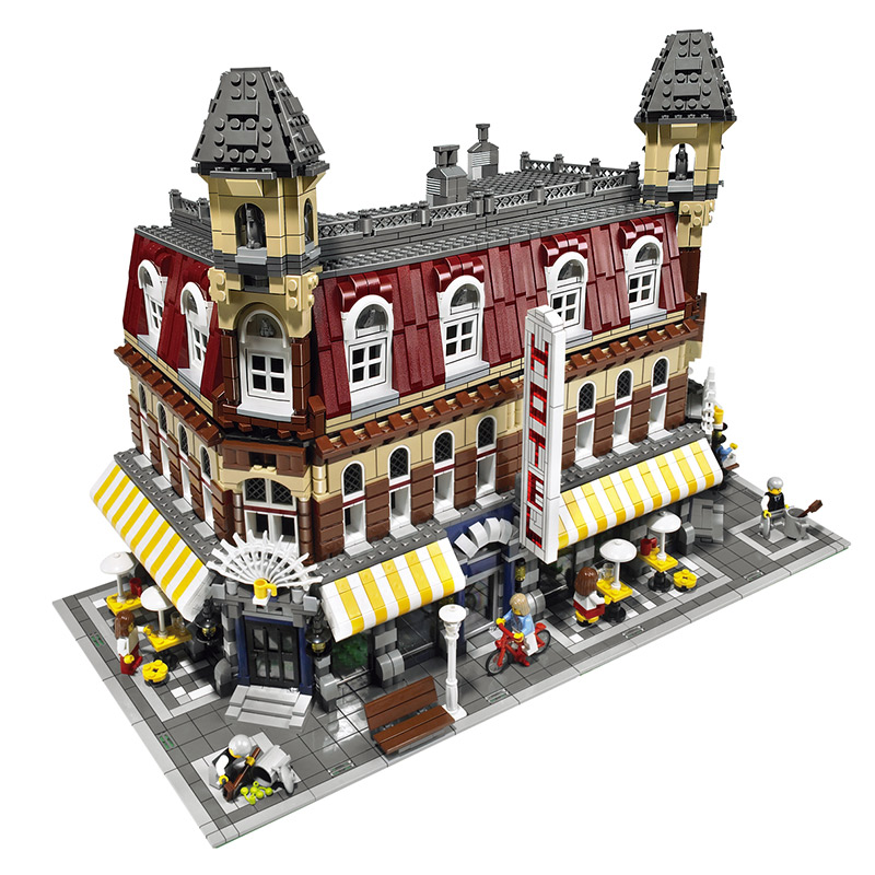 LELE Cafe Corner Model Building Blocks Creator Bricks Compatible with Legoes Education Toys Gift Boys Toys for Children 2133pcs lepin city creator 3 in 1 beachside vacation building blocks bricks kids model toys for children compatible with lego gift kid