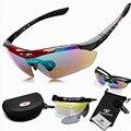 Hot 1 conjunto 5 lentes homens marca esportiva óculos de conjunto de óculos de sol ao ar livre óculos UV400 óculos de sol óculos de sol lunettes de soleil preto