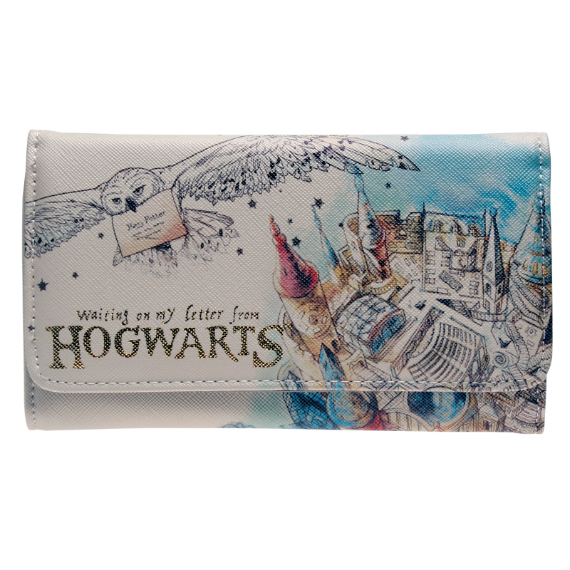 HARRY POTTER HOGWARTS AQUARELL BRIEFTASCHE FRAUEN GELDBÖRSE DFT-6028