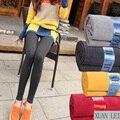 Новый леггинсы женщины брюки много цветов на выбор и бесплатная доставка толщиной осень и зима легко матч простой стиль леггинсы