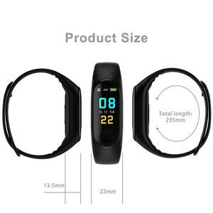 Image 5 - Écran couleur Bracelet intelligent Fitness Tracker pas à pas compteur fréquence cardiaque pression artérielle Information pousser rappel intelligent étanche