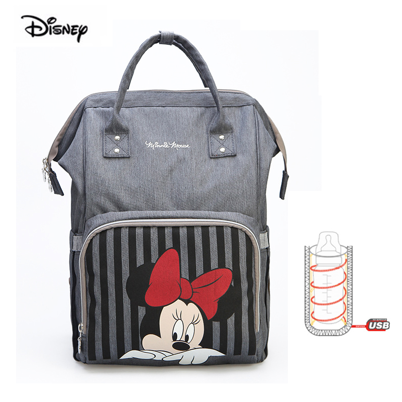Originale di Marca Disney sacchetto di Modo Del Pannolino Zaino Multifunzionale di Grande Capacità Maternità Sacchetto Del Pannolino Del Sacchetto Per Il Viaggio Sacchetto Del Bambino la Madre di Mickey