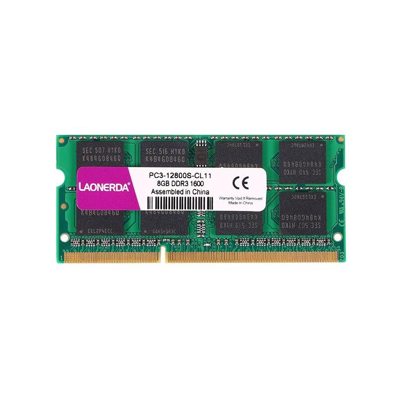 LAONERDA 1.5V DDR3 4 GB GB 1333 Mhz 1600 Mhz 1.5V SO-DIMM 8 204Pin la memoria RAM Notebook del ordenador portátil