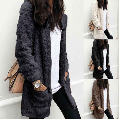 Winter Frauen Warme Teddybär Mantel Strickjacke Damen Winter Dicke Mantel Jacke Outwear Öffnen Stich