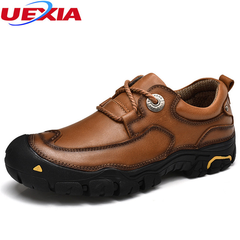 Autumn Cow Leather Men shoes High Quality Flats Outdoor Sport Moccasin Slip On Leather Rubber sole Shoes Men Zapatos senderismo new original transformation 5 robot toy deformation car robot action figures toys brinquedos children toys gifts