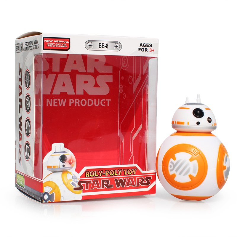 Star Wars BB-8 BB8 Figure Toys The Force Awakens Droid Robot PVC Action Figures Toys With Light And Sound 11cm Free Shipping