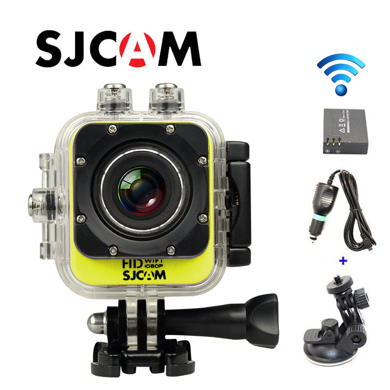 Free Shipping!!Original SJCAM M10 WiFi Full HD Sport Action Camera+Extra 1pcs battery+Car Charger+Car Holder free shipping original sjcam sj5000 sport action camerar car charger holder monopod extra 1pcs battery battery charge for camera