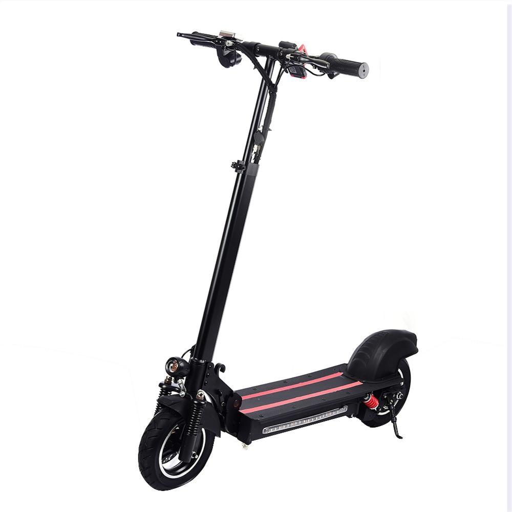 Scooter adulte de coup de pied de 10 pouces, vitesse maximum de la batterie 48 V/15AH d'entraînement de roue simple 50 km/H 800 W, moto électrique de Scooter d'équilibrage d'individu