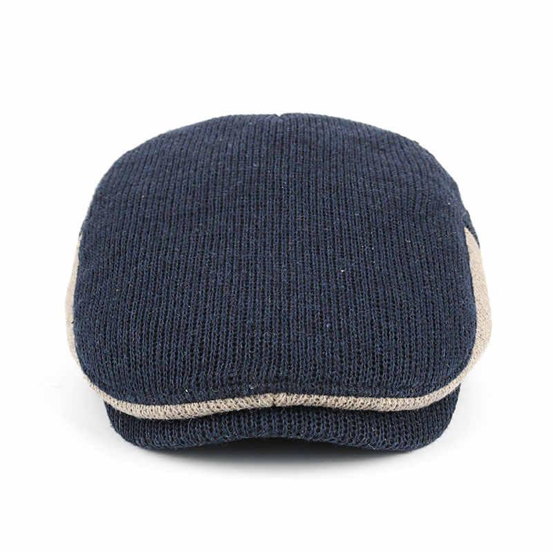 68d6081b42d1e ... JOYMAY New Winter Cotton Berets Caps For Men Casual Peaked Caps Berets  Hats Casquette Cap Y035 ...