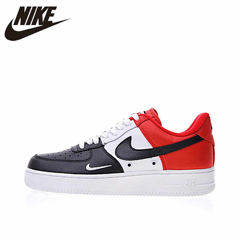reputable site fab64 f2043 Original Authentic Nike Air Force 1 Low Mini Swoosh Men s Skateboarding  Shoes Sport Outdoor Sneakers 2018