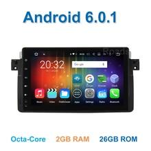 "9 ""Android 6.0 ocho core Rover multimedia de DVD Del Coche para BMW E46 MG ZT 75 M3 con WiFi BT GPS de Radio volante control"
