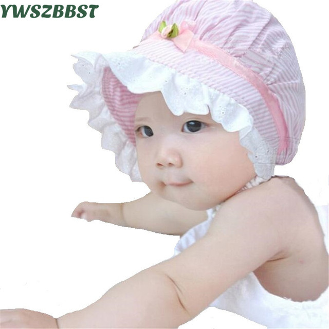 e27fe6bcc33 Sweet Lovely Newborn Baby Summer Hat Cute Princess Girls Hats Infant Hat  Stripe Beanie Kids Boy Caps Baby Sun Caps