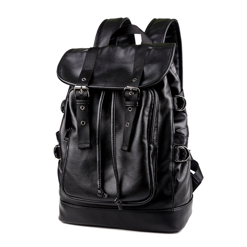 Backpack Men's Backpack Men Laptop Backpack PU Leather Backpacks For Teenagers School Bag Luxury Designer Casual Travel Bags dispalang designer colorful backpack for women laptop backpacks girls school bags for teenagers summer travel bag mochilas mujer