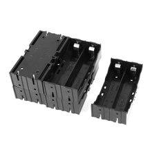 5 шт. черный пластиковый 2×3.7 В 18650 батареи 4 pin Батарея держатель дело