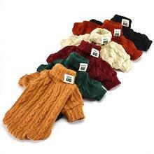 Водолазка для собак, одежда для маленьких собак, свитер, Свитшот унисекс, Весенняя Пижама для собак, мягкий питомец, котенок, Трикотажный костюм для кошки 1b17