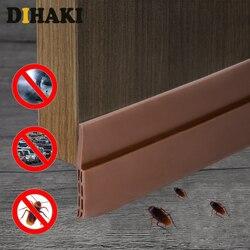 100cm porta inferior de vedação de silicone rascunho rolha limiar adesivo selos de borracha auto-adesivo portas vedação tira adesivos