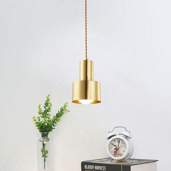 北欧ロフトスタイル純銅単つりランプヴィンテージ LED ペンダント照明器具クリエイティブアメリカぶら下げランプ家庭の照明