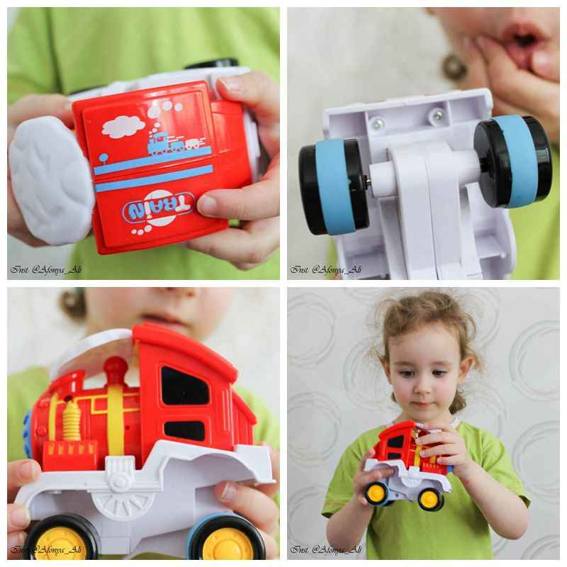 Car Boy Toys For Children Train Girl Kids Toys Vehicles Stunt Rolling Train Toy Plastic Model Birthday Gifts Baby Floor Game Toy