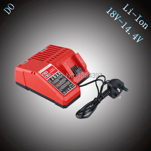 New 18V 14.4V Replacement Charger for Milwaukee Power Tools Rechargeable Lithium Ion Battery M18 48-11-1815 1828 1840 power tools replacement li ion battery charger electric screwdriver lithium ion battery charger for milwaukee m12 m18 ac110 230v