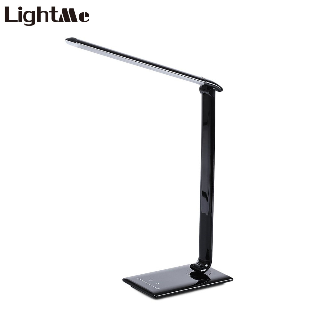Lightme 7W LED Table Lamp Touch Sensor Adjustable 7 Lighting Level Desk Lamp Eye Protection Book Lamp For Home Office 2018 New