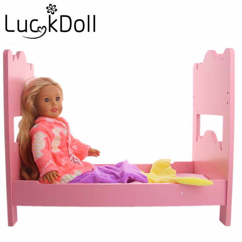 LUCKDOLL Velvet Printing Clothes Fit 18 Inch American 43cm Baby Doll Clothes Accessories,Girls Toys,Generation,Birthday Gift