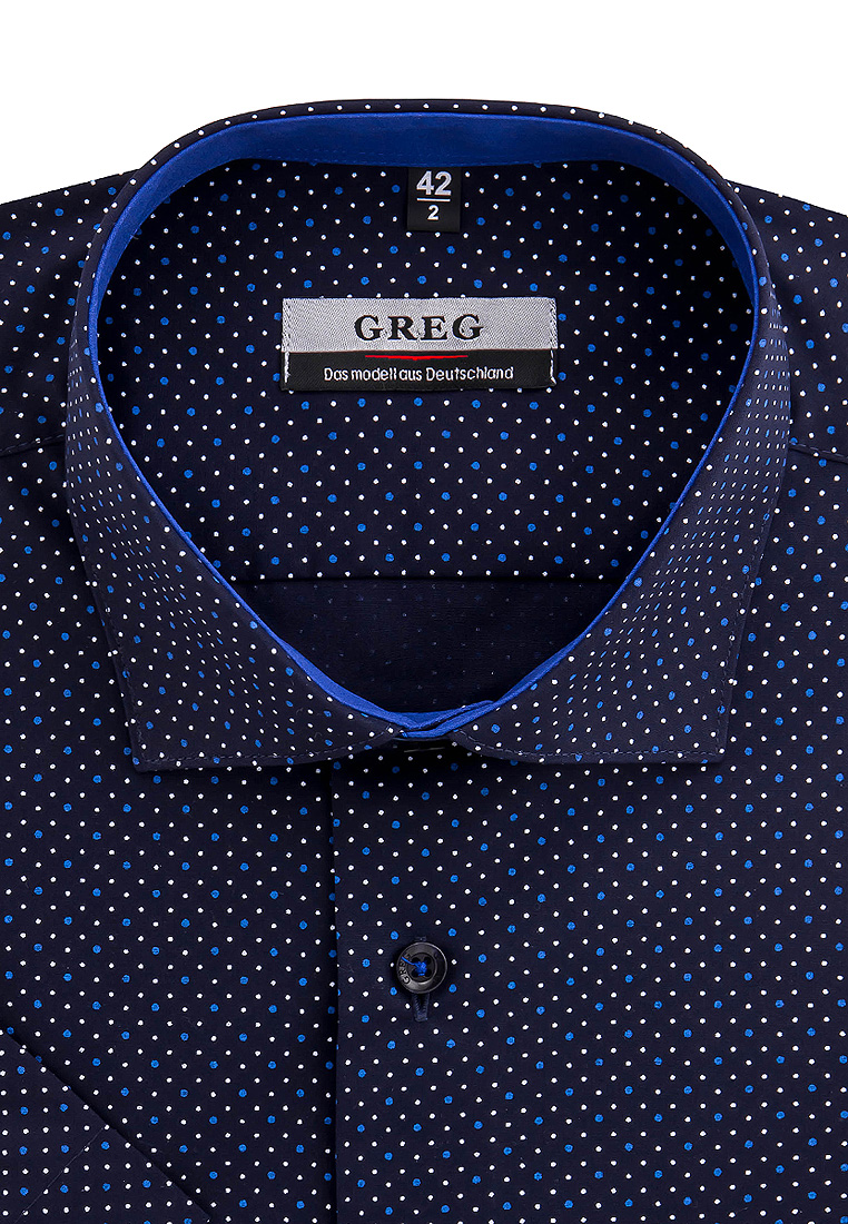 Shirt men's short sleeve GREG 223/109/2188/Z/1 Blue