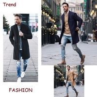 ZOGAA Winter Men Long Trench Coat Men Fashion Long Sleeve Solid Windbreaker Men Casual Long Trench Windbreaker Coat 2019 NEW
