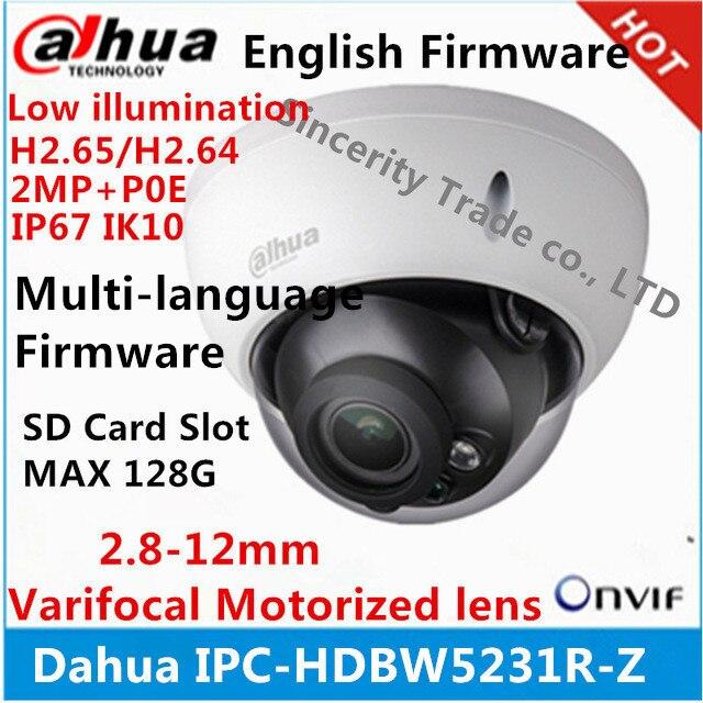 Dahua IPC-HDBW5231R-Z IP Camera H2.65 H2.64 2.8 mét ~ 12 mét varifocal cơ giới ống kính 2MP IR50M built-in SD khe cắm thẻ POE Webcam
