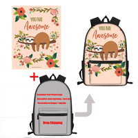 FORUDESIGNS School Bags for Teenage Girls Casual Customize Picture/Logo Women Backpack Large Children Book Shoulder Bags Dayback