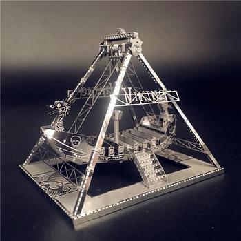 MMZ MODEL NANYUAN 3D Metal model kit Viking ship Assembly Model DIY 3D Laser Cut Model puzzle toys for adult Originality