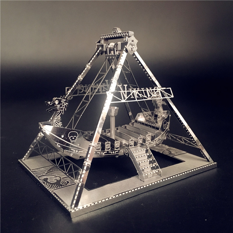 MMZ MODEL NANYUAN 3D Metal Model Kit Viking Ship Assembly Model DIY 3D Laser Cut Model Puzzle Toys For Adult Originality