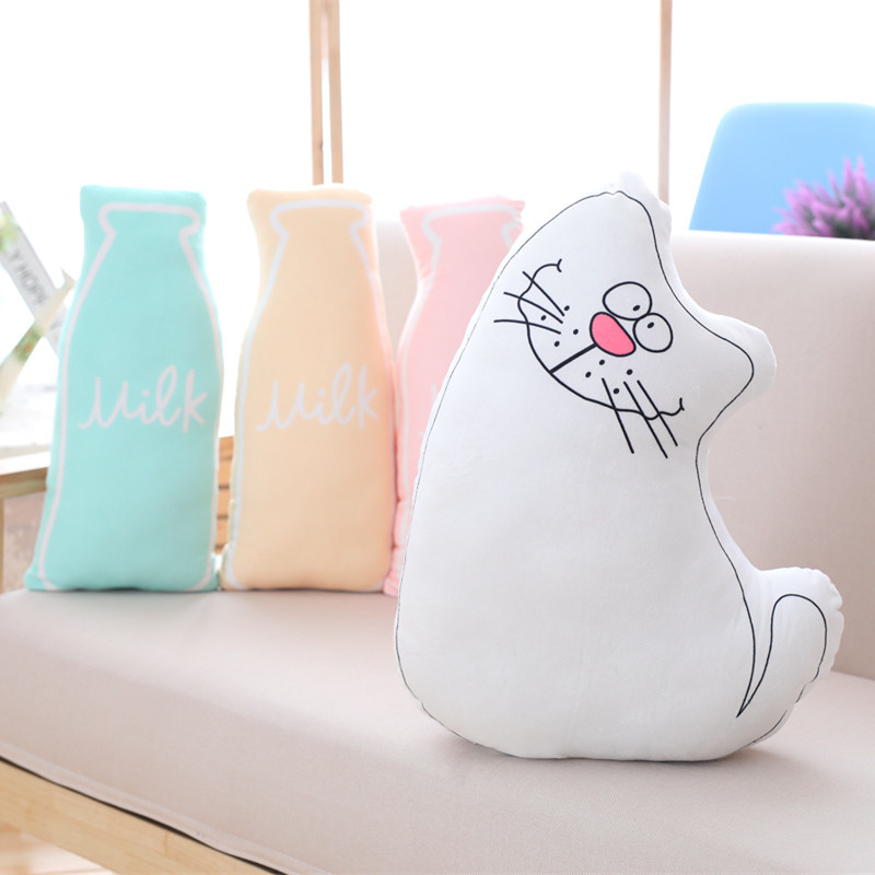 1PC 45CM Kawaii Plush Cat Toy Staffed Soft Bottle Pillow Sofa Cushion Baby Kids Doll Creatiave Gift Birthday Present Children