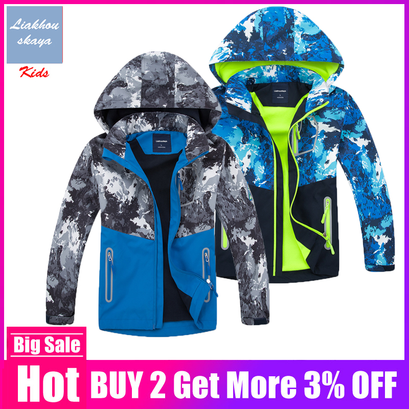 Children Boys Outwear Coats 2019 New Brand Spring Autumn Fashion Waterproof Windproof Hooded Jackets For Boys Kids Sport Clothes