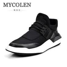 MYCOLEN Novas Dos Homens Sapatos Casuais Preguiçosos Lace-Up Masculino Sapatos de Caminhada Leve Respirável Confortável Dos Homens Zapatos Tenis Feminino