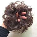 1pcs 30g 25colors Women Fashion Elasticity Wave Curly Synthetic Flexible Scrunchie Wrap For Hair Bun Chignon
