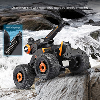 Yed Water Jet RC Car 1:18 4 Wheel Off Road Stunt Car Remote Control Car Driving on Water and Land Amphibious Electric Car Toy