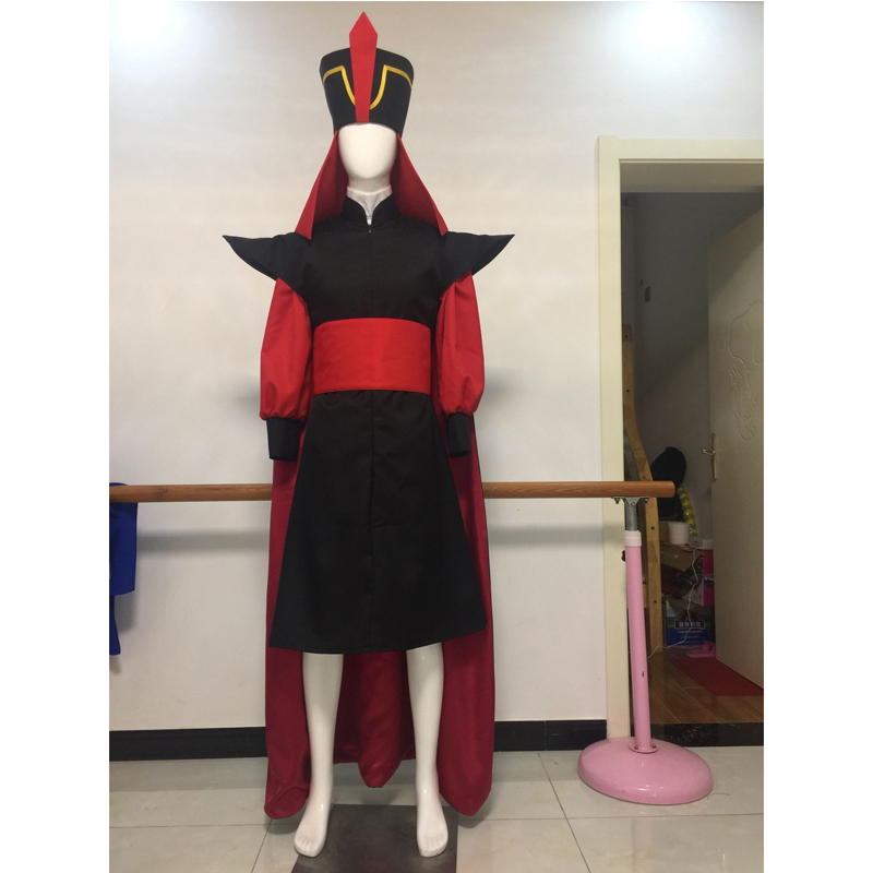 Aladdin Jafar Villain Cosplay Costume Adult Prince Halloween Carnival Party Costume Full Set Custom