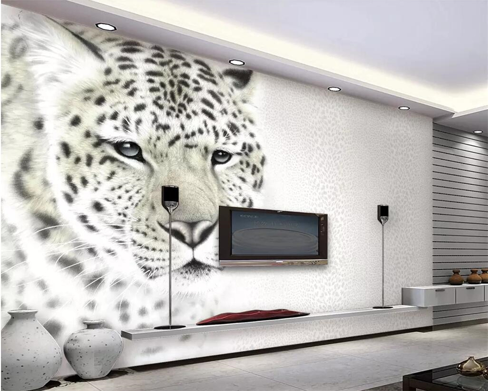 Us 885 41 Offbeibehang Modern Fashion Wallpaper Mural Leopard Print Leopard Living Room Tv Background Wall Decorative Painting 3d Wallpaper In