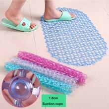PVC Bath Mat Toilet Mats Transparent Shower Bathroom Floor Carpet Suction Safety Non-slip Sucker Set Pad