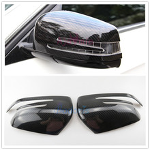 Car Styling Door Mirror Overlay Rear View Cover 2013-2018 For Mercedes Benz AMG  A Class W176 A45 Accessories