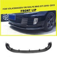 Carbon Fiber / FRP Front Bumper Lip Spoiler Splitters for Volkswagen VW Golf 6 VI MK6 GTI 2010 2013