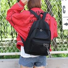 Minimalist Black style Korean Backpack