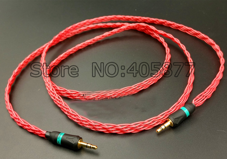 цена на Hi End colourful headphone stereo audio cable with gold plated 3.5mm Plug 3.5mm headphone