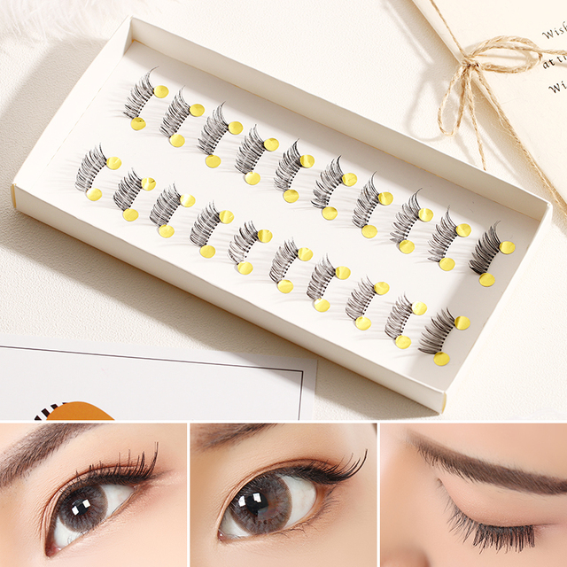 High Quality 10 Pairs/set Pro Beauty Makeup Mini Half Corner Black False Eyelashes Natural Fake Eye Lashes Makeup Tools 1