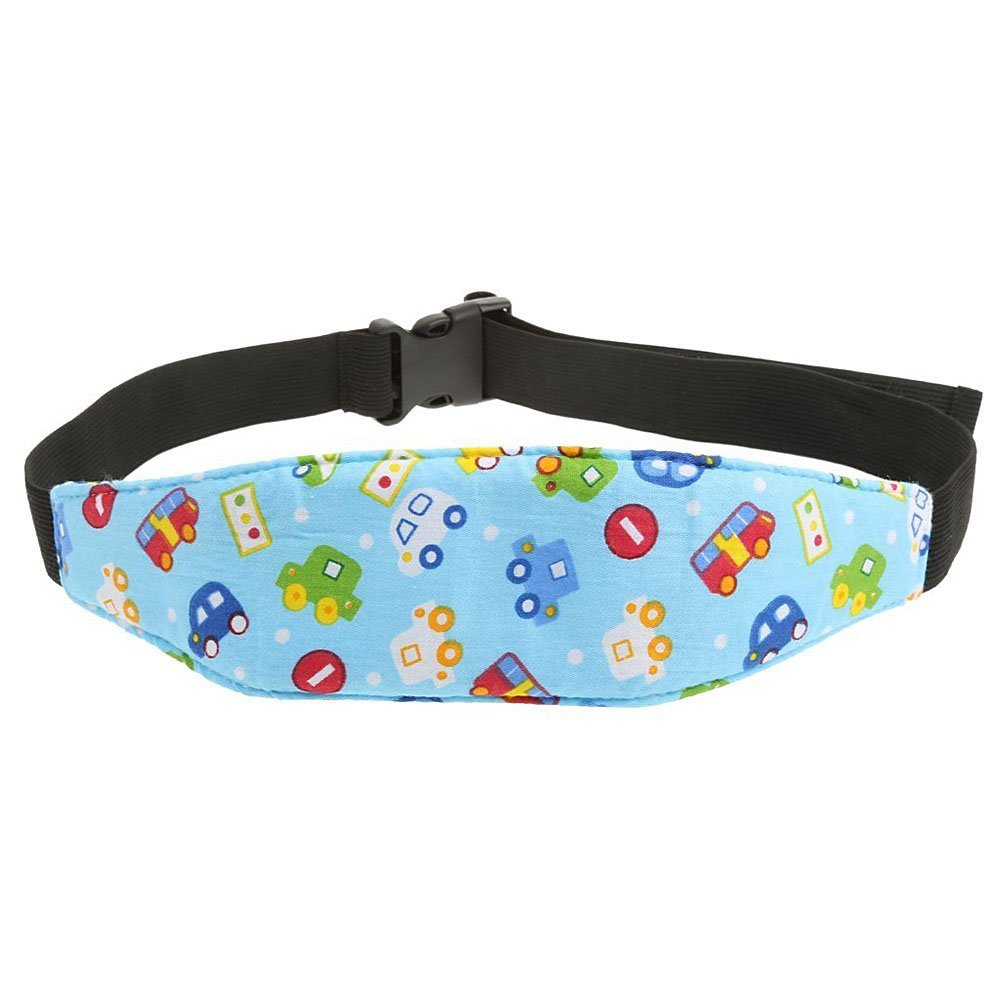 1Pcs Fixing Band Baby Kid Head Support Holder Car Print Sleeping Belt Car Seat Sleep Nap ...