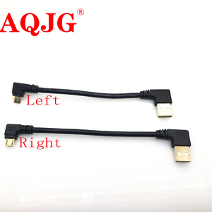 Image 1 - Gold plated 15CM short 90 Degree USB 2.0 to Micro USB B Male Cable Gold Plated Right Angle Data Sync and Charge Extender Lead
