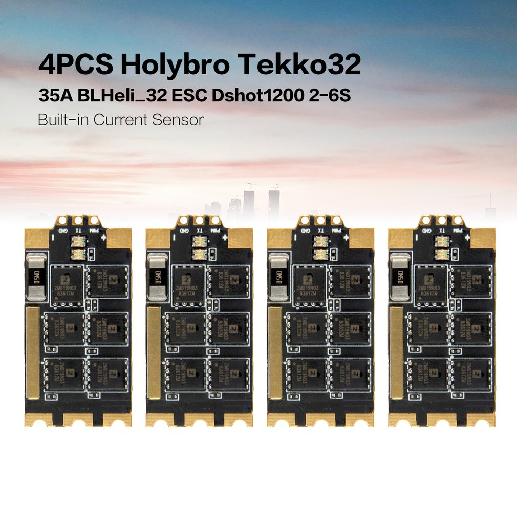 4PCS Holybro Tekko32 35A BLHeli_32 ESC Dshot1200 2-6S Built-in Current Sensor For RC Drone FPV Racing Multi Rotor4PCS Holybro Tekko32 35A BLHeli_32 ESC Dshot1200 2-6S Built-in Current Sensor For RC Drone FPV Racing Multi Rotor